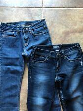 Lot of 2: Denim Jeans Size 28 Silver Capri Crop & Buffalo Jeans