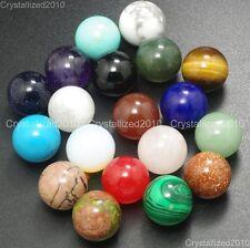 Natural Gemstones Harmony Round Ball Crystal Healing Sphere Rock Stones 16mm