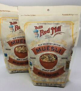 Set of 2 BOB'S RED MILL Muesli 18 oz bags, Old Country Style, BB Oct 2021
