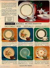 1967 ADVERT Lenoxware Melamine Dinnerware Plates Inca Wil-O-Wisp Madrid Heidi