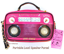 Betsey Johnson 🎶 Boom Box Radio Bag w/ Phone Music Speakers Pool Beach Fun! NWT