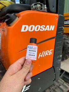 ORANGE TOUCH UP PAINT FOR DOOSAN DX10 DX19 DX27 Z MICRO MINI DIGGER EXCAVATOR
