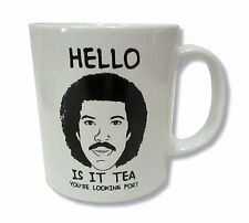 Lionel Richie Is It Tea You're Looking For? White Ceramic Coffee Tea Mug Cup New