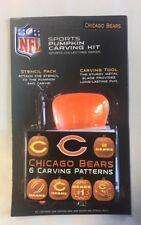 Chicago Bears Pumpkin Carving Kit Halloween Stencils for Jack-O-Lantern