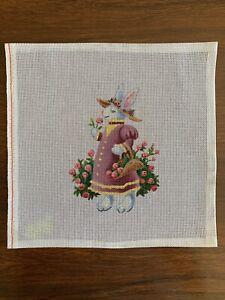 B. FOX HANDPAINTED NEEDLEPOINT CANVAS - Lady Rose The Rabbit