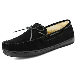 Mens Casual Homelike Loafers Slippers Warm Moccasins Toe Shoes Size 6.5-15