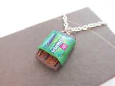 Handmade Funky Retro Mint Matchmakers Chocolate Sticks Inspired Chain Necklace