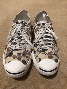 EUC Converse Jack Purcell mens sneakers camo 10.5