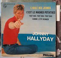 """EP Johnny HALLYDAY """"L'idole des jeunes"""" Languette large / Colombet 102  EX+/ EX"""