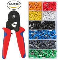 1200pcs Terminal Wire Connectors +175mm Crimping Plier Wire Ferrule Crimp Tool