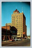 Walla Walla, Marcus Whitman Hotel Texaco Gas, Chrome Washington c1966 Postcard