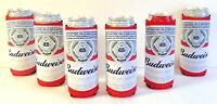 Budweiser Beer 24 / 25 oz. Koozie - Set of 6 - Fits Extra Ounce Cans  New & F/S