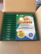 24 Trading Card 100 Pocket Plastic Display For Cards Action Figure Hot Wheels