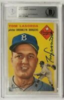 1954 Topps TOMMY LASORDA #132 Signed BGS BAS Auto Autograph Rookie RC Authentic