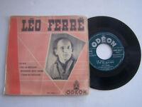 EP 4 TITRES VINYLE 45 T , LEO FERRE , LA RUE . VG -/ VG -  .
