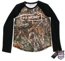 NWT - UNDER ARMOUR Kid's 'REALTREE EDGE' Forest Camo POLYESTER L/S SHIRT - YMD