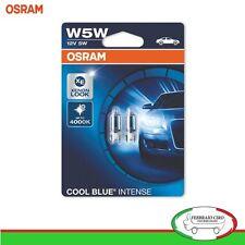 2 Lampade OSRAM T10 12V 5W Cool Blue Intense Luci di Posizione Interno Targa