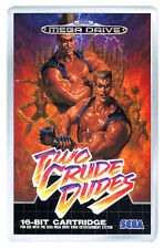 TWO CRUDE DUDES MEGA DRIVE FRIDGE MAGNET IMAN NEVERA