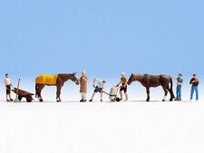 * Noch scala N 36634 figure omini personaggi set contadini stallieri 9 pz