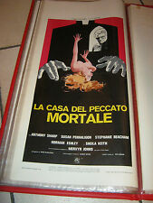 LOCANDINA,La casa del peccato mortale,House of Mortal Sin,1976,Pete Walker,SHARP