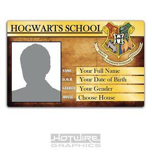 PERSONALISED Printed Novelty ID- Harry Potter HOGWARTS School Fancy Dress FILM