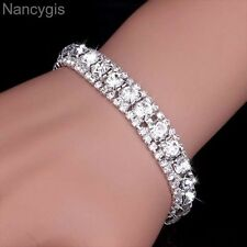 Gorgeous Silver Crystal Party Gift Bridal Wedding Bracelet