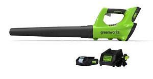 Greenworks 24V Cordless Jet Blower, 2.0 AH Battery Included 2400702 -Brand New