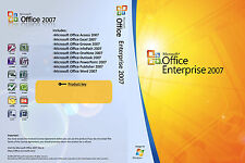 Microsoft Office 2007 Enterprise Word Excel Powerpoint Full Windows 1PC Lifetime