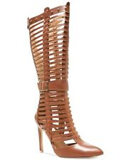 NEW CHELSEA & ZOE SZ 8 PRIMERO  BROWN TALL GLADIATOR BOOT SANDAL HEEL STRAPPY