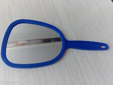 Handspiegel Spiegel mit Handgriff ca. 27cm Blau mit Griff u. Öse zum aufhängen