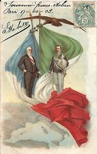 POSTCARD FRIENDSHIP FRANCE ITALY 1903