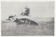 C3099 Affondamento della Santo Stefano - Stampa d'epoca - 1953 vintage print