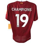 Signed Jurgen Klopp Liverpool 19/20 Champions Shirt Proof