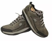 Skechers Shape Ups Leather Gray Charcoal Black CCBK 52000 Walking Shoe Mens 11