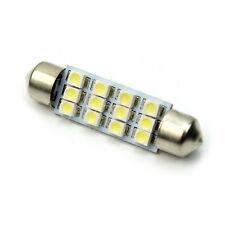 Lampadina 12 LED SMD Tuning Festoon Siluro Bianco Luminoso 0,55W 12V