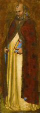 """perfect 24x72 oil painting handpainted on canvas""""A Bishop Saint """"N5809"""