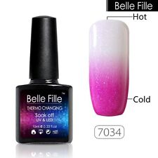 BELLE FILLE Temperature Color Change Nail Art Gel Polish Soak-off UV 10ml #7034