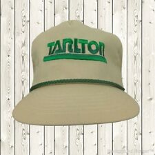 Tarlton Construction Vintage 1980s Hat Cap Rope Made in USA Leather Strap NEW