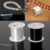 Black Elastic Stretchy Beading Thread Cord Bracelet String For Jewelry Making