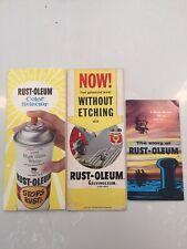 Vtg 1980 Rustoleum Paint Do it Yourself Product Selector Spray Brochure Book