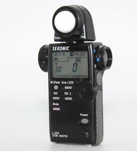 【EXC+++++】 Sekonic L-508 Zoom Master Digital Master Light Meter JAPAN #061