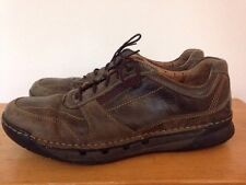 Clarks Structured Brown Leather Mens Athletic Shoes Sneakers Oxfords 9M 42.5