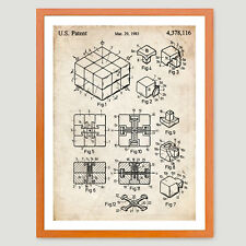 RUBIK'S CUBE PATENT INVENTION POSTER 18X24 VINTAGE PUZZLE GIFT 1983 (unframed)