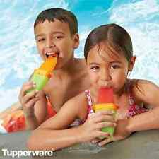 Tupperware Lollitups Popsicle with Drip Catcher Base Set of 6