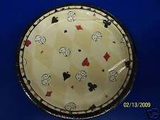 """Let the Games Begin Casino Poker Party 9"""" Dinner Plates"""