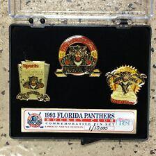 Rare Florida Panthers Limited Edition Inaugural Year Three Pin Set #1 Of 10,000