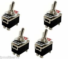 4 DPST ON/OFF Toggle Switches 1/2 Mount 20A