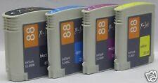 komp. X-JET Tinte Tintenpatrone RAINBOW-KIT C9391A/92A/93A/96A HP Nr. 88