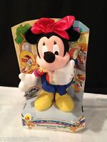 VINTAGE 1998 marching band HOMETOWN SPIRIT disney MINNIE MOUSE PLUSH doll 14""