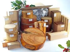 Premium wood turning blanks gift selection pack.  Mixed sizes and species.